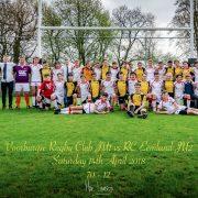 De junioren van RC Eemland en de VRC na de wedstrijd op 14 april