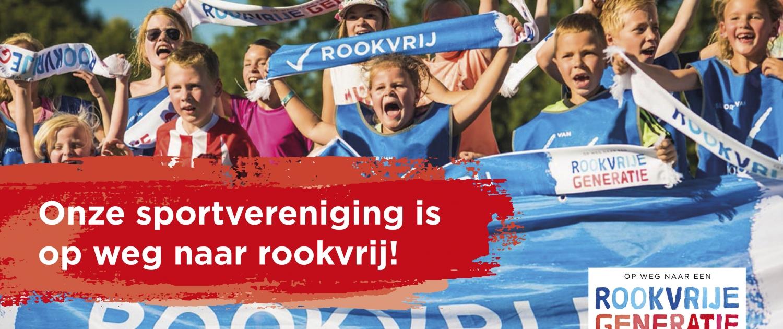 banner 'op weg naar Rookvrij sporten'